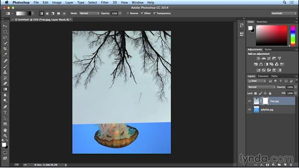 Using adjustment layers to create unity between images: Introduction to Photo Compositing