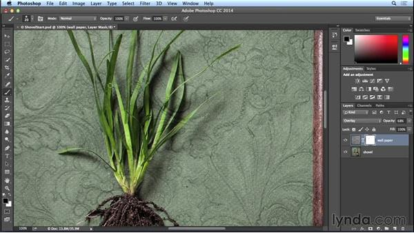 Selectively adding texture: Introduction to Photo Compositing