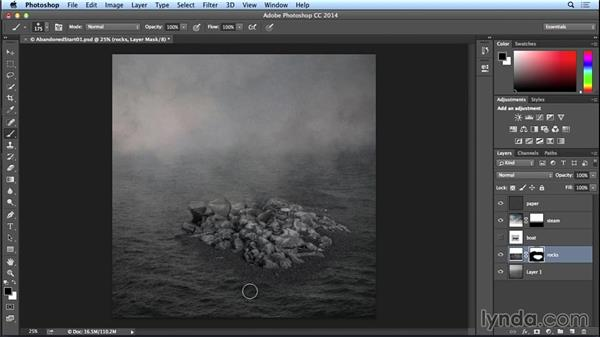 Adding the rocks: Introduction to Photo Compositing
