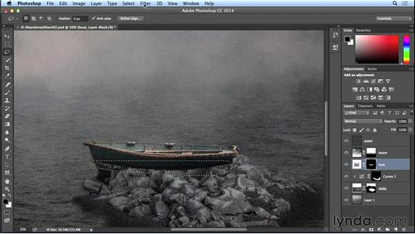Adding the boat: Introduction to Photo Compositing