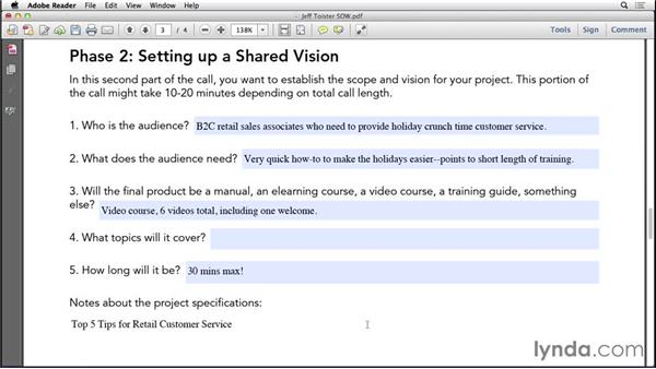 Kickoff call: Setting a shared vision: Instructional Design Essentials: Working with SMEs