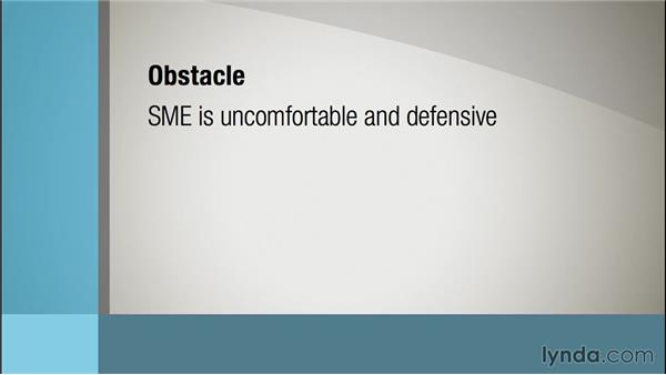Resolving common obstacles: Instructional Design Essentials: Working with SMEs