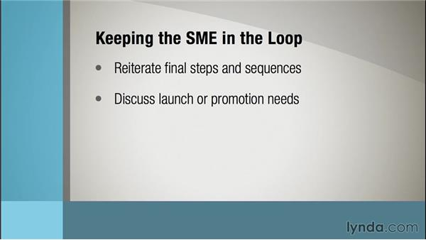 Keeping the SME in the loop: Instructional Design Essentials: Working with SMEs