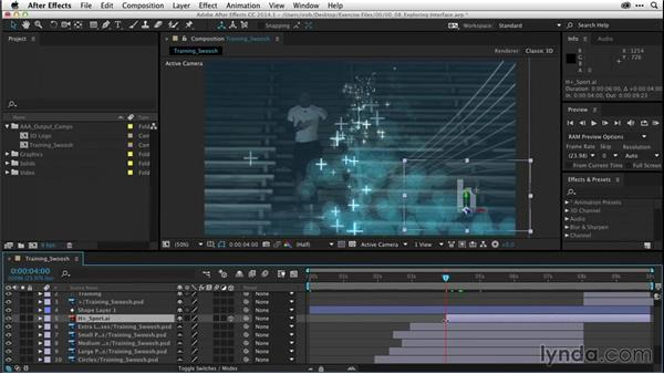 Exploring the interface of After Effects (CC 2014.1): After Effects CC Essential Training