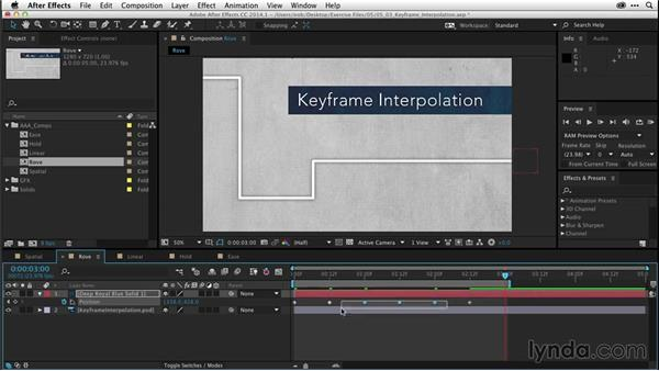 Understanding keyframe interpolation (CC 2014.1): After Effects CC Essential Training