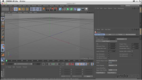 Matching CINEMA 4D Lite and After Effects projects (CC 2014.1): After Effects CC Essential Training