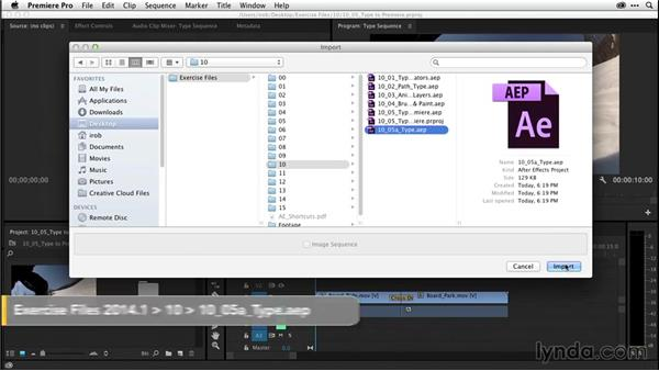 Animating text and prepairing templates for use in Premiere Pro (CC 2014.1): After Effects CC Essential Training