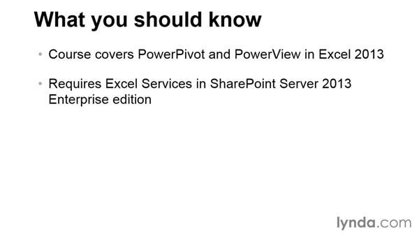 What you should know before watching this course: Up and Running with Power Pivot and SharePoint 2013