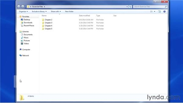 Using the exercise files: Up and Running with Power Pivot and SharePoint 2013
