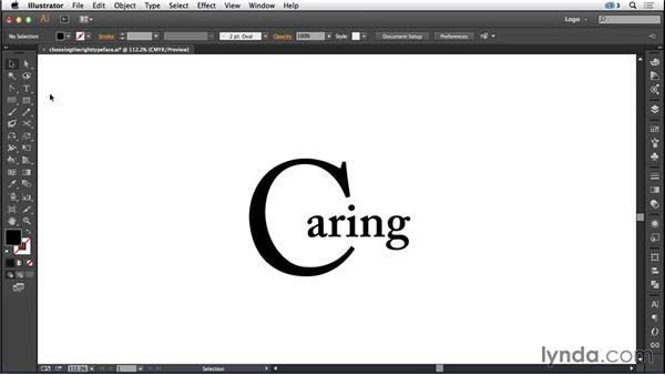 Choosing the right typeface: Logo Design Techniques