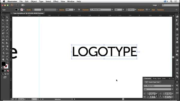Exploring type variables: Logo Design Techniques