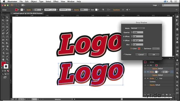 Outlined type: Logo Design Techniques