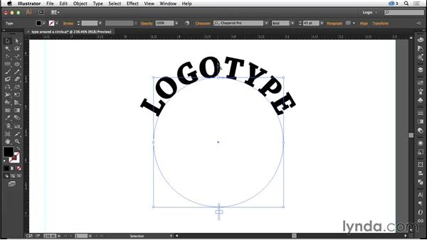 Creating a circular logo with type on a path: Logo Design Techniques