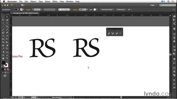 Creating a monogram: Logo Design Techniques