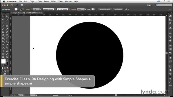 Using simple shapes to create a logo symbol: Logo Design Techniques