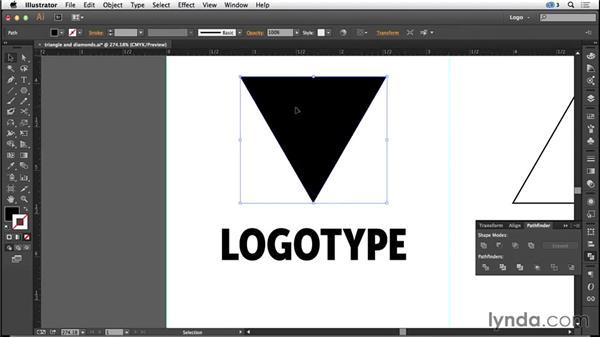 Triangles and diamonds: Logo Design Techniques