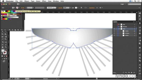 Creating a bevel effect: Logo Design Techniques
