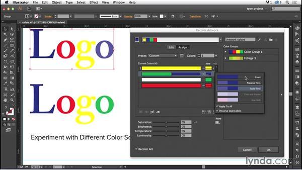 Recoloring artwork: Experiment with different color schemes: Logo Design Techniques