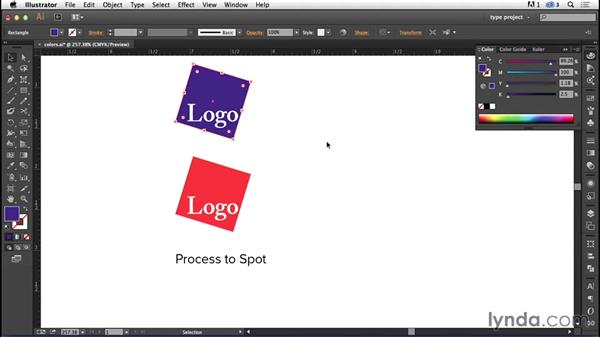 Converting process to spot color: Logo Design Techniques