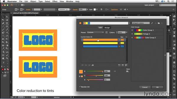 Converting process to tints: Logo Design Techniques