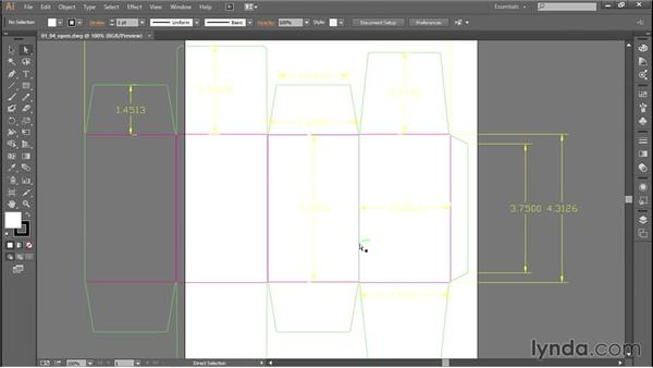 Opening DWG and DXF files with Illustrator
