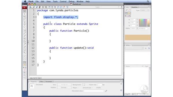 Building the particle class: ActionScript 3.0: Building Particle Systems