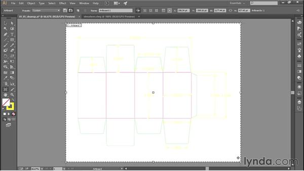 Cleaning up after the file conversion: Adobe Illustrator: Working with AutoCAD Files