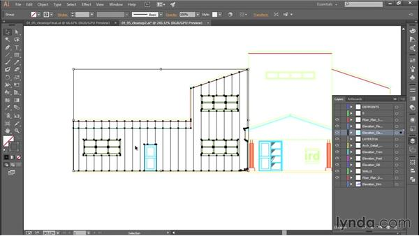Adding color fills after file conversion: Adobe Illustrator: Working with AutoCAD Files