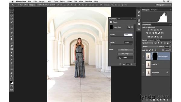 Fixing the background: Portrait Project: Enhancing an Environmental Portrait of a Model