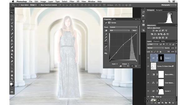 Adding a glow effect: Portrait Project: Enhancing an Environmental Portrait of a Model