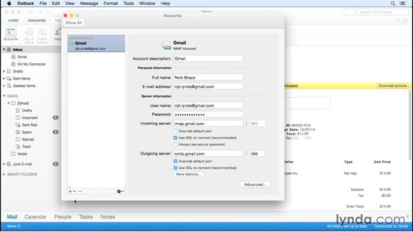 Setting up accounts: Outlook for Mac First Look
