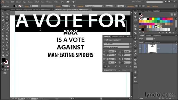 365 Creating a campaign poster in Illustrator