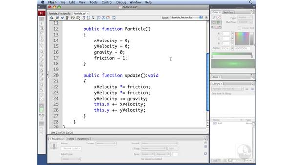 Creating particle friction: ActionScript 3.0: Building Particle Systems