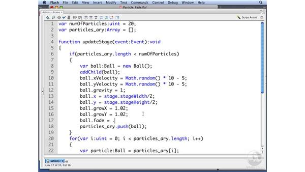Fading particles: ActionScript 3.0: Building Particle Systems