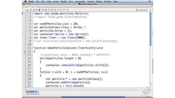 Creating particle rotation: ActionScript 3.0: Building Particle Systems