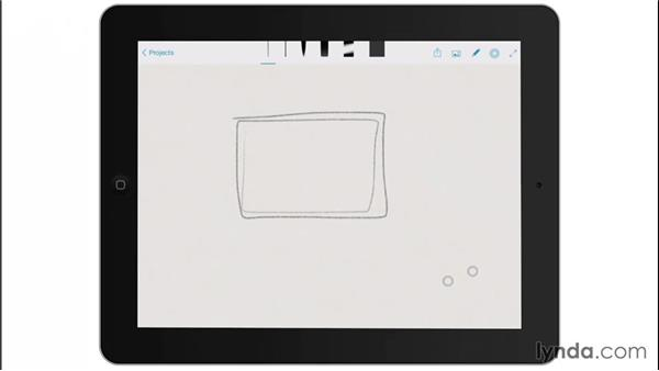 Working full screen and panning and zooming: Drawing on the iPad with Adobe Sketch