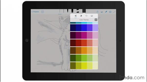 Default color themes: Drawing on the iPad with Adobe Sketch