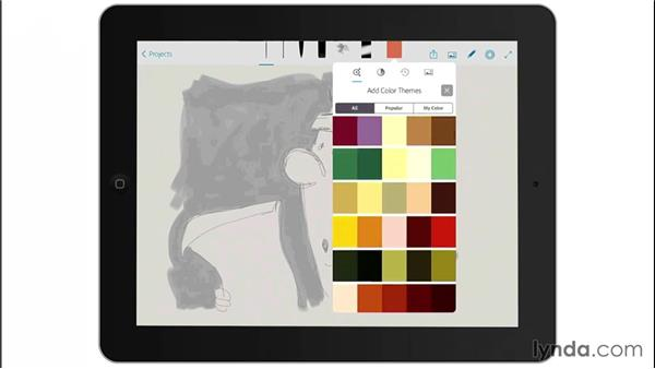 Integration with Adobe Color CC: Drawing on the iPad with Adobe Sketch