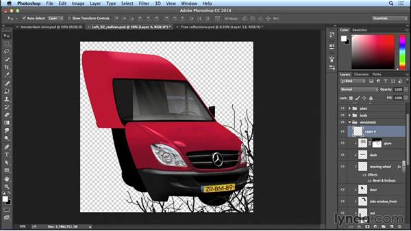Making reflections in the windows: Part one: Bert Monroy: The Making of Amsterdam Mist, the Vehicles