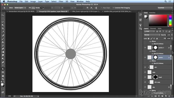 Finishing the basic shape for a tire: Giving it dimension: Bert Monroy: The Making of Amsterdam Mist, the Vehicles