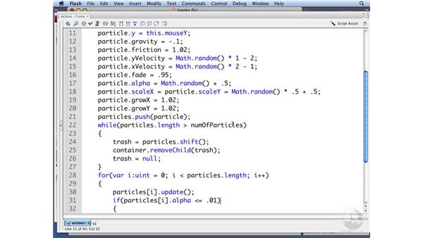 Using timeline-animated particles: ActionScript 3.0: Building Particle Systems