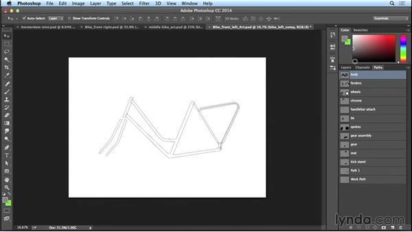 Assembling the basic shapes for a bike: Bert Monroy: The Making of Amsterdam Mist, the Vehicles