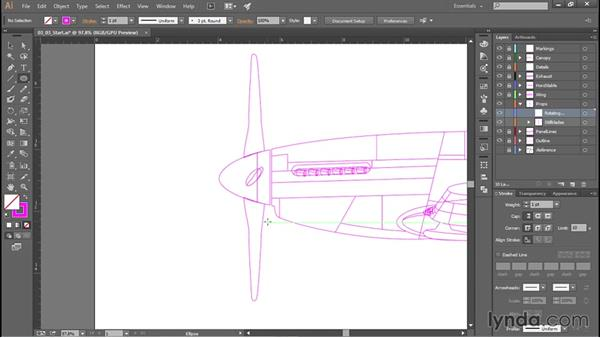 Propellers and other rotors: Creating Aircraft Profiles with Adobe Illustrator and Photoshop