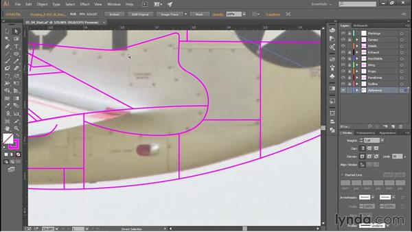Drawing additional details: Creating Aircraft Profiles with Adobe Illustrator and Photoshop