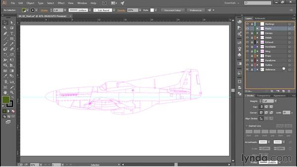 Adding base colors: Creating Aircraft Profiles with Adobe Illustrator and Photoshop