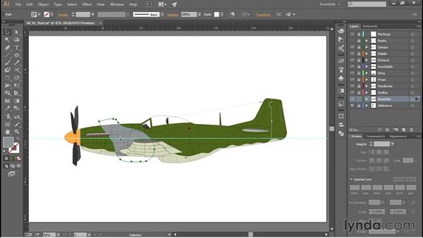Applying camouflage patterns: Creating Aircraft Profiles with Adobe Illustrator and Photoshop