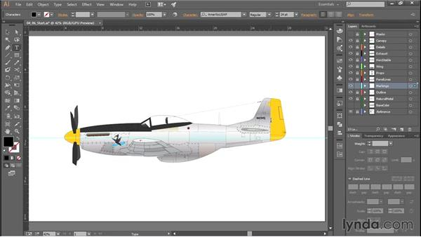 Adding serial numbers and unit markings: Creating Aircraft Profiles with Adobe Illustrator and Photoshop