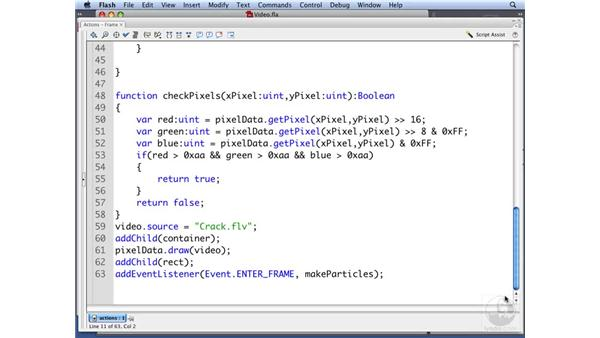 In practice pt. 5: Adding particles to video: ActionScript 3.0: Building Particle Systems