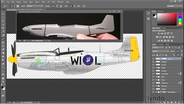 Adding highlights and shadows: Creating Aircraft Profiles with Adobe Illustrator and Photoshop