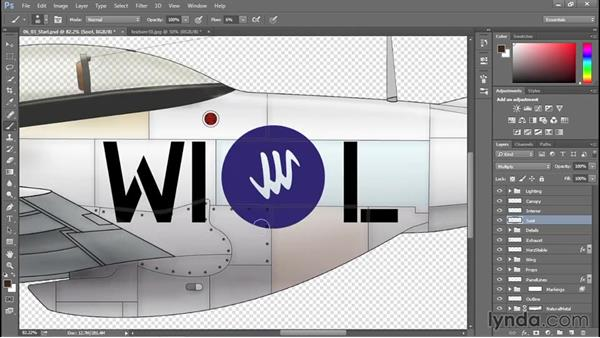 Applying wear and grime effects: Creating Aircraft Profiles with Adobe Illustrator and Photoshop